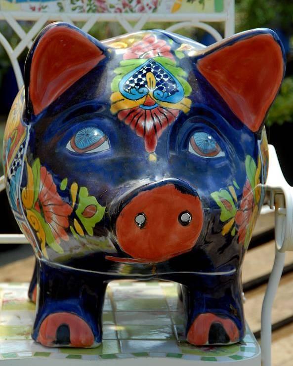Porcelain Pig Poster featuring the photograph Garden 31 by Joyce StJames