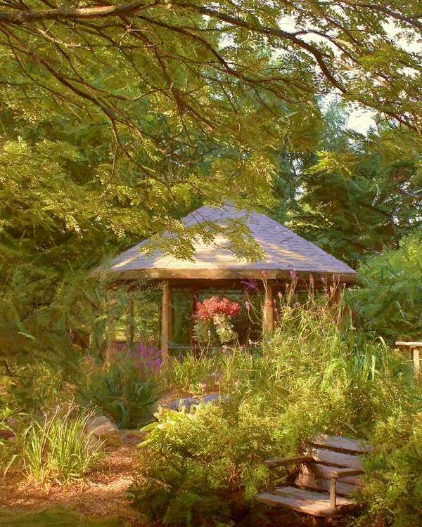 Garden Poster featuring the photograph Garden Gazebo by Jim Darnall