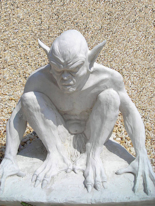 Sculpture Poster featuring the photograph Gargoyle by William Thomas