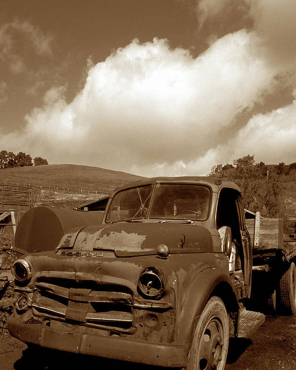 Old Trucks Poster featuring the photograph Garrod's Old Truck 2 by Kathy Yates