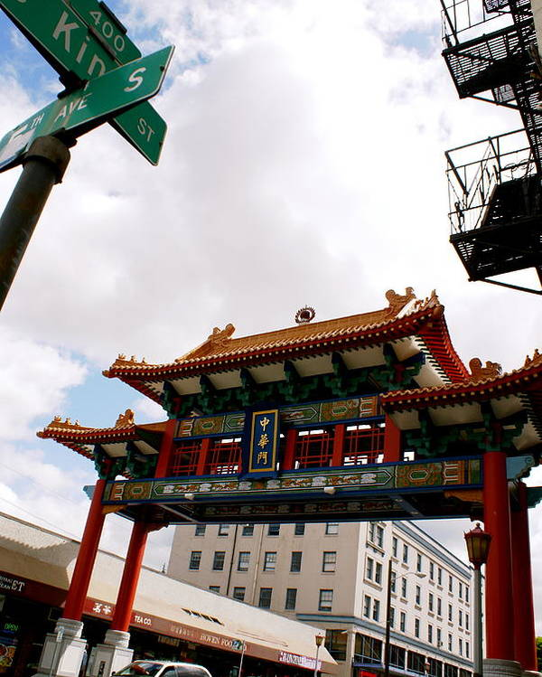 Architecture Poster featuring the photograph Gateway To Chinatown by Sonja Anderson