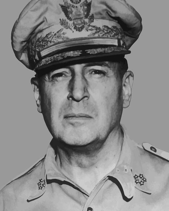 Douglas Macarthur Poster featuring the painting General Douglas Macarthur by War Is Hell Store