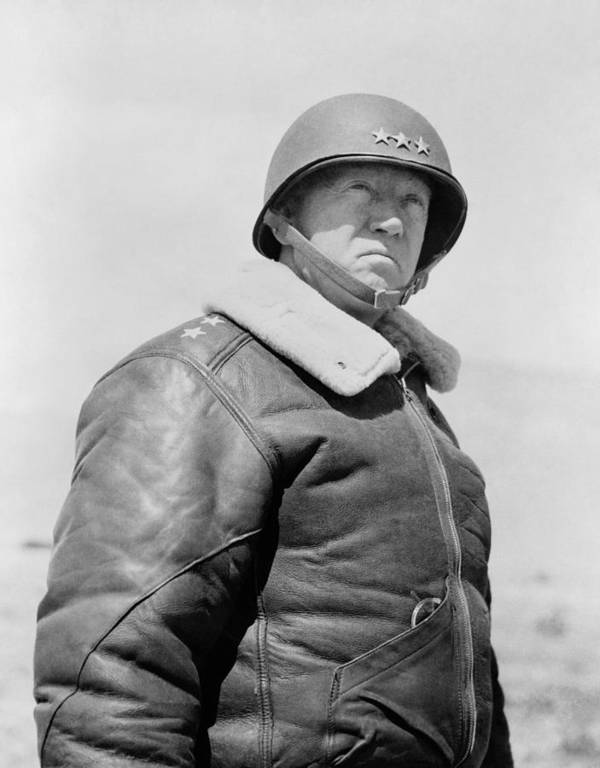 General Patton Poster featuring the photograph General George S. Patton by War Is Hell Store