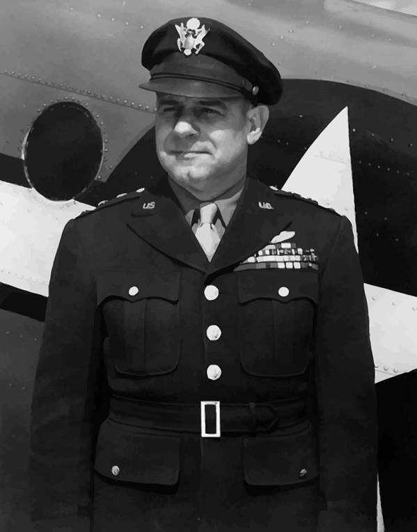 Jimmy Doolittle Poster featuring the painting General Jimmy Doolittle by War Is Hell Store