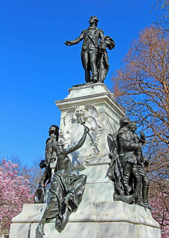 Major Poster featuring the photograph General Lafayette Memorial In Lafayette Square by Cora Wandel