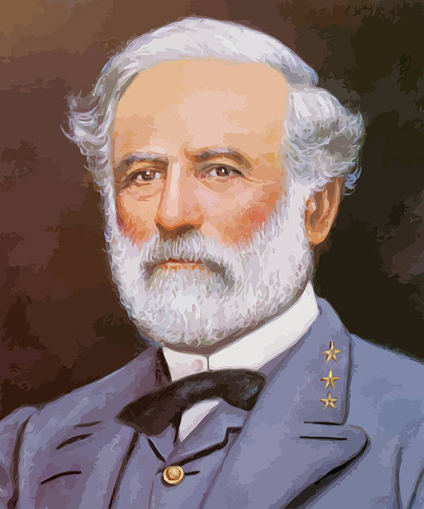 Robert E Lee Poster featuring the painting General Lee by War Is Hell Store