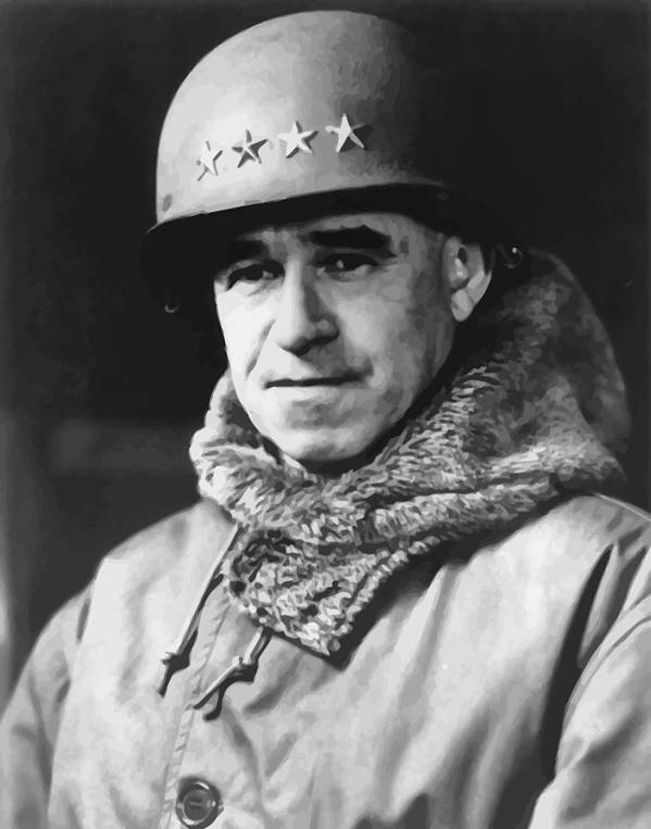 Omar Bradley Poster featuring the painting General Omar Bradley by War Is Hell Store