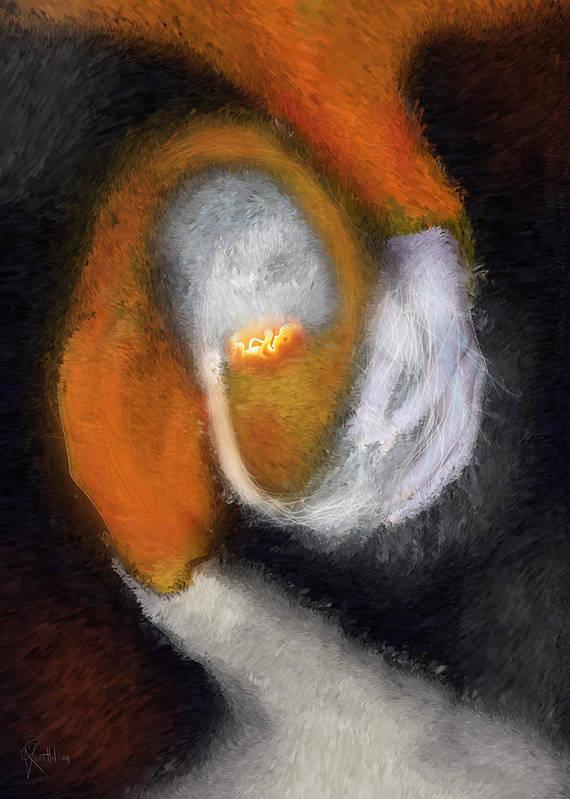Genesis Poster featuring the painting Genesis Of The Elder God by Randhir Rawatlal