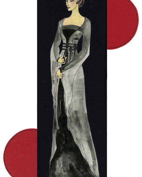 Fashion Poster featuring the mixed media Genevieve by Suzanne Blender