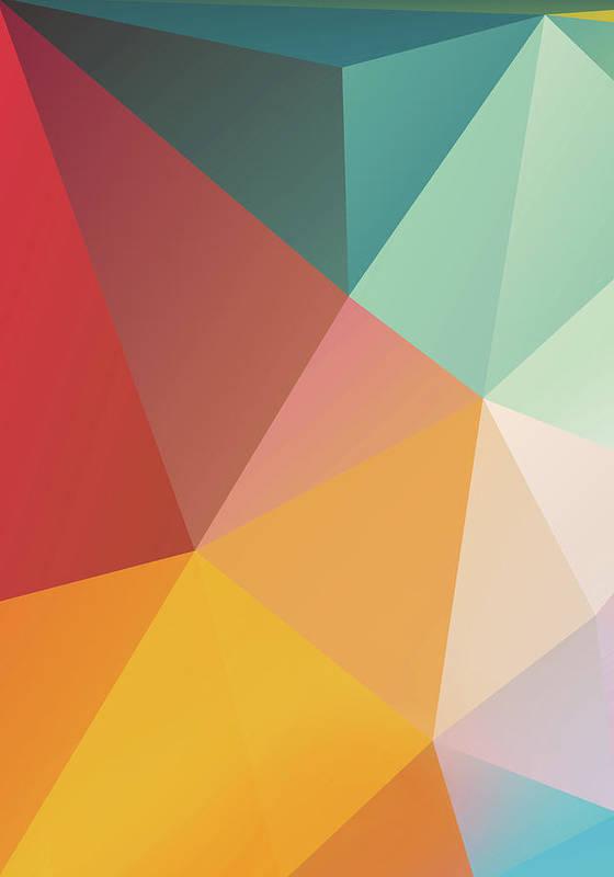 Poster featuring the digital art Geometric Xxix by Ultra Pop