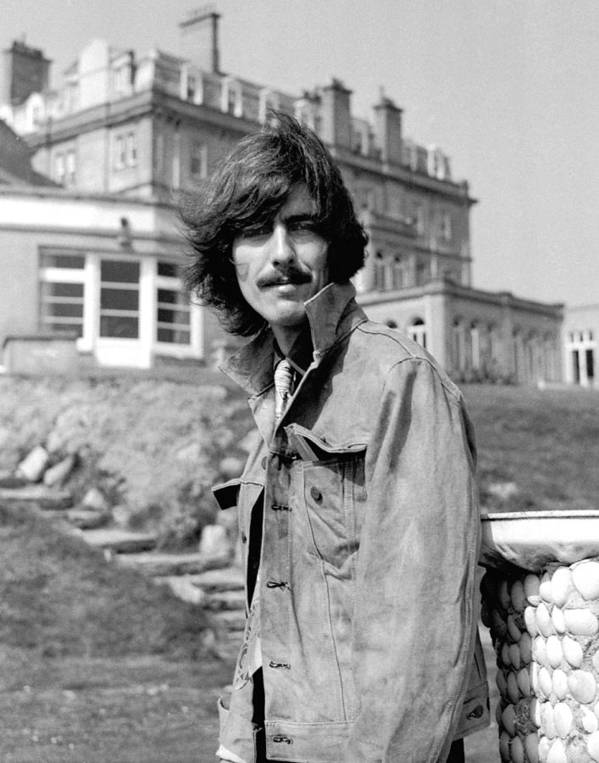 d2b571f62615 George Harrison Poster featuring the photograph George Harrison Beatles  Magical Mystery Tour by Chris Walter