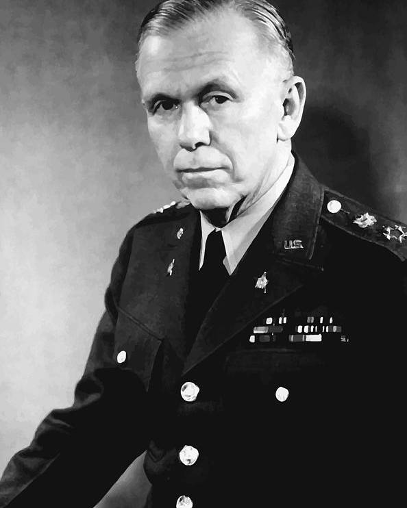 George Marshall Poster featuring the painting George Marshall by War Is Hell Store
