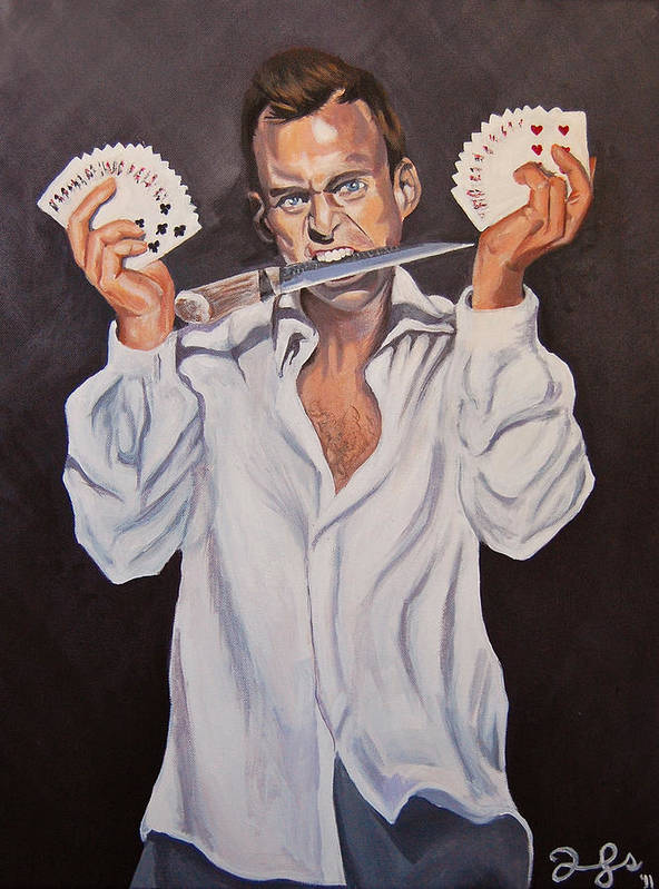 Gob Poster featuring the painting George Oscar Bluth by Emily Jones