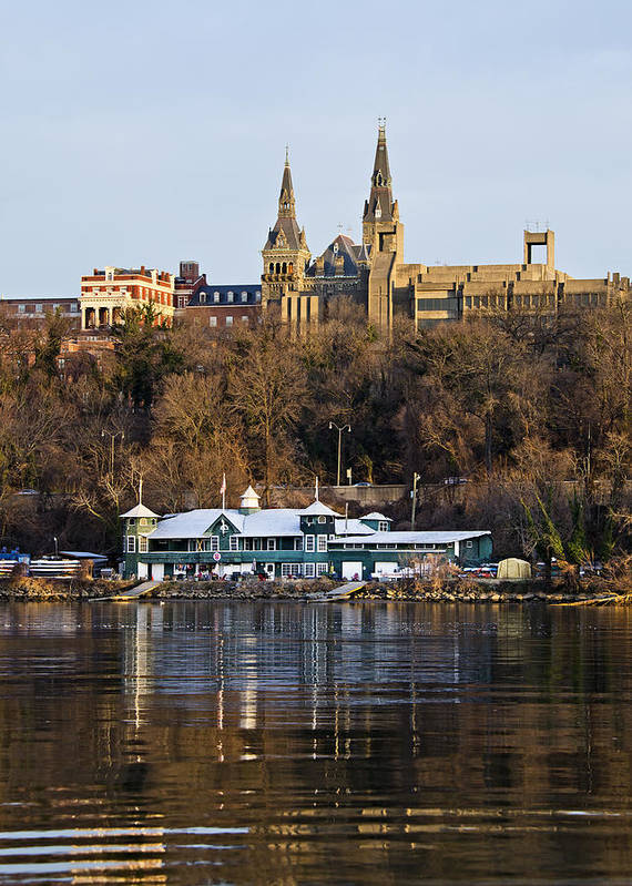 georgetown University Poster featuring the photograph Georgetown University Waterfront by Brendan Reals
