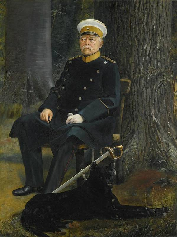 German Chancellor Otto Von Bismarck Poster By Motionage