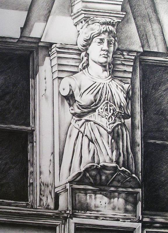 Statue Poster featuring the drawing Germania by Michael Lee Summers