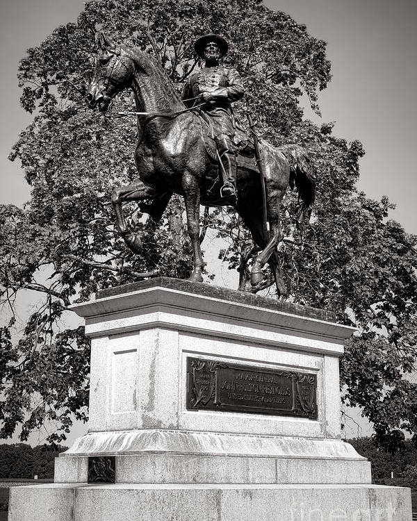 Gettysburg Poster featuring the photograph Gettysburg National Park John Fulton Reynolds Monument by Olivier Le Queinec