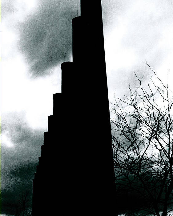 Smoke Stacks Poster featuring the photograph Ghost Stacks by Chaz McDowell