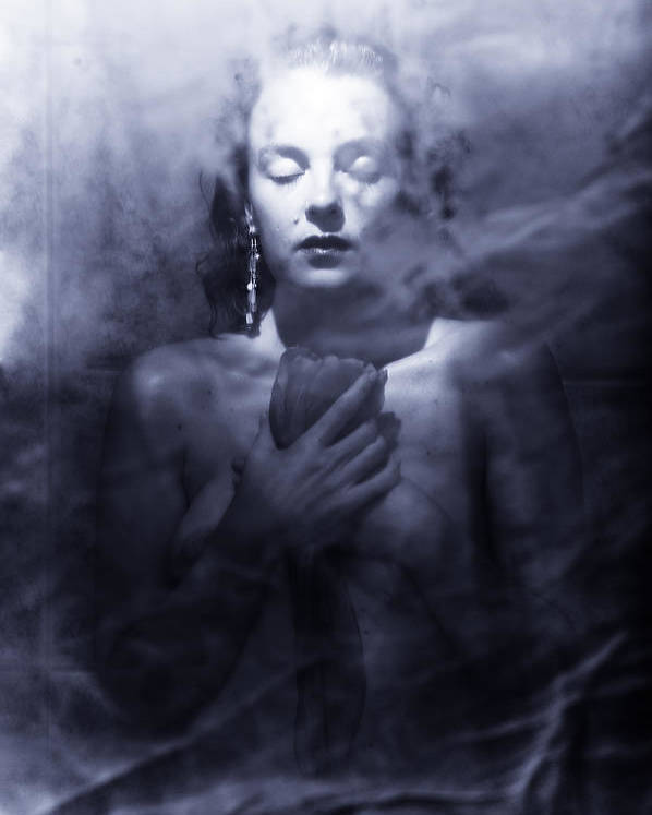 Woman Poster featuring the photograph Ghost Woman by Scott Sawyer