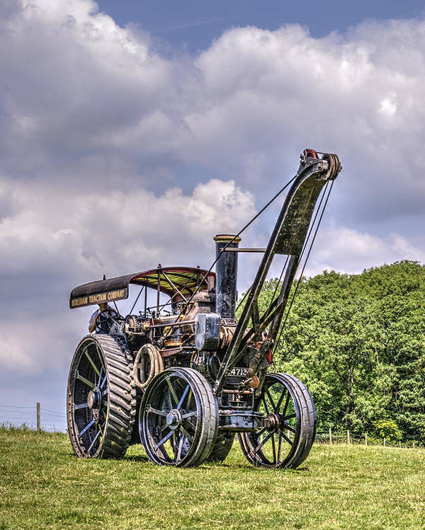 Steam Poster featuring the photograph Giant Turning by Hazy Apple
