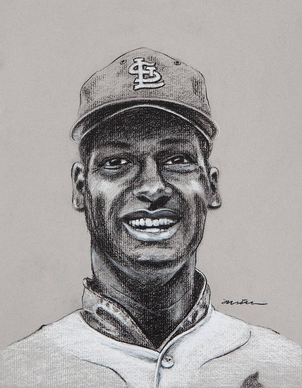 Bob Gibson Poster featuring the drawing Gibby by Jim Wetherington