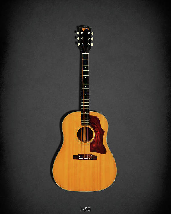 Gibson J-50 Poster featuring the photograph Gibson J-50 1967 by Mark Rogan