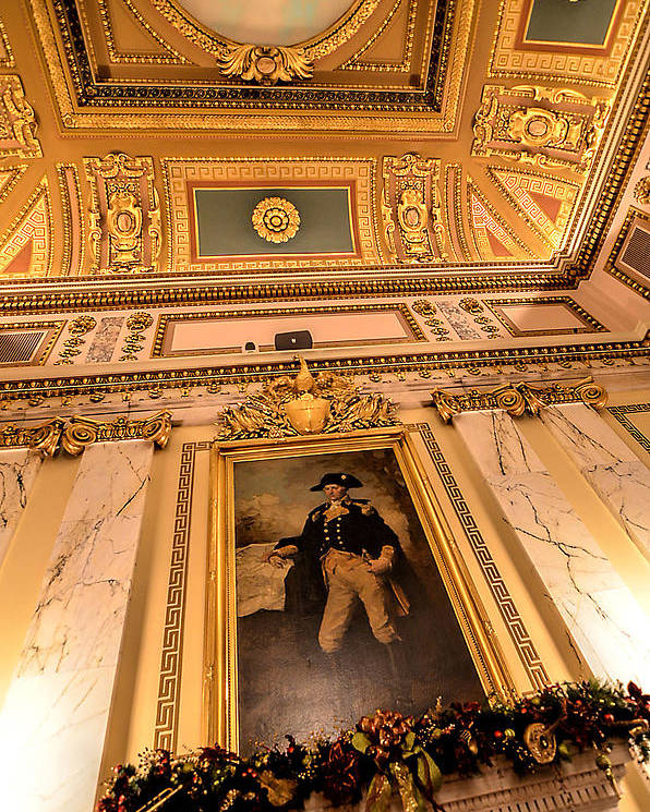State House Poster featuring the photograph Gilded Ceiling by Melissa Hicks