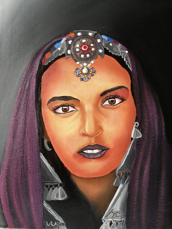 This One Is An Original Work Of Art! It Would Be A Great Buy For The Morocco Lover!!!!!! Poster featuring the painting Girl Of Morocco by Portland Art Creations