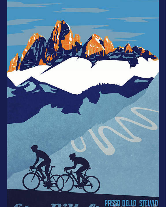 Giro D'italia Poster featuring the painting Giro D'Italia cycling poster by Sassan Filsoof