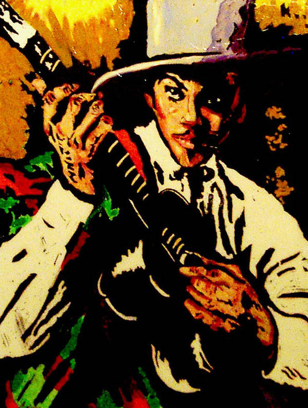 Figurative Poster featuring the painting Gitano by Elio Lopez