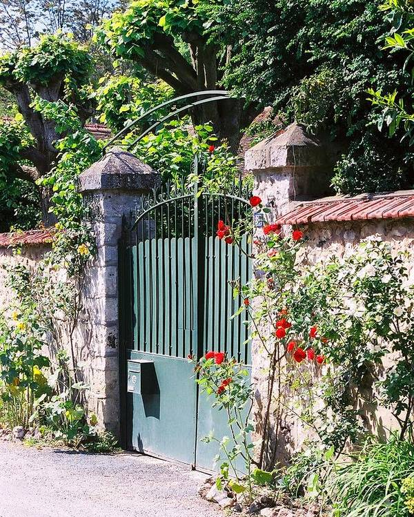 Giverny Poster featuring the photograph Giverny Gate by Nadine Rippelmeyer