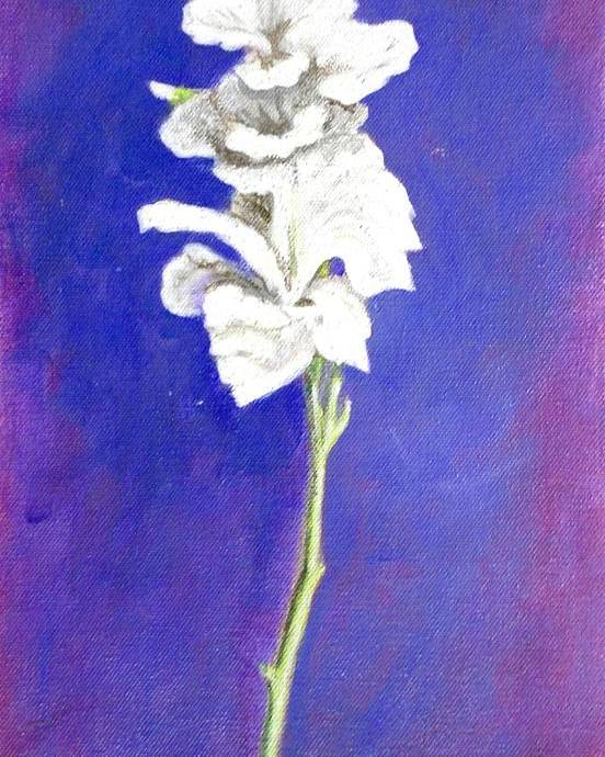 Flower Poster featuring the painting Gladiolus 1 by Usha Shantharam