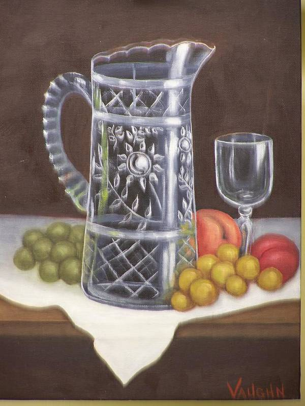 Still Life Poster featuring the painting Glass Study by Charles Vaughn