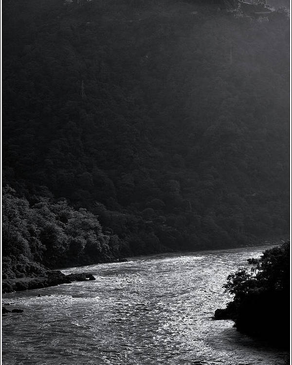Landscape Poster featuring the photograph Glimmer On The Ganges by Kedar Munshi