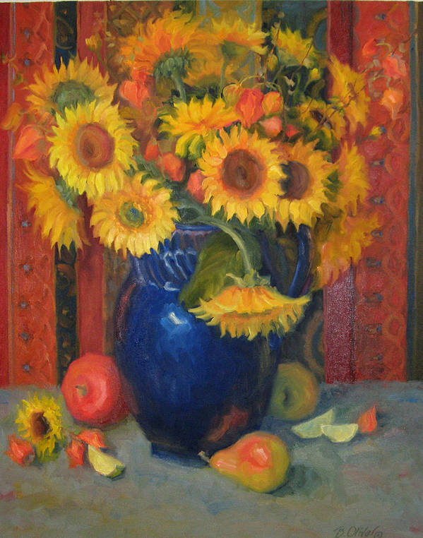 Still Life Poster featuring the painting Glorioso by Bunny Oliver