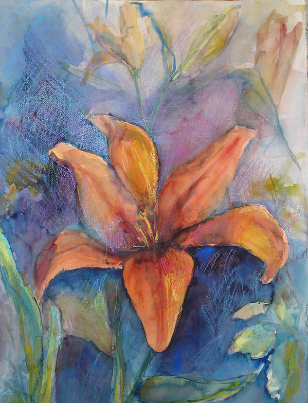 Lily Poster featuring the painting Glorius Lily by Joyce Kanyuk