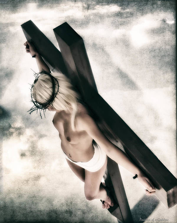 Texture Poster featuring the photograph Glow Crucifix I by Ramon Martinez