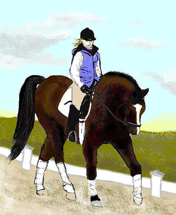 Horse Poster featuring the digital art Going Round by Carole Boyd
