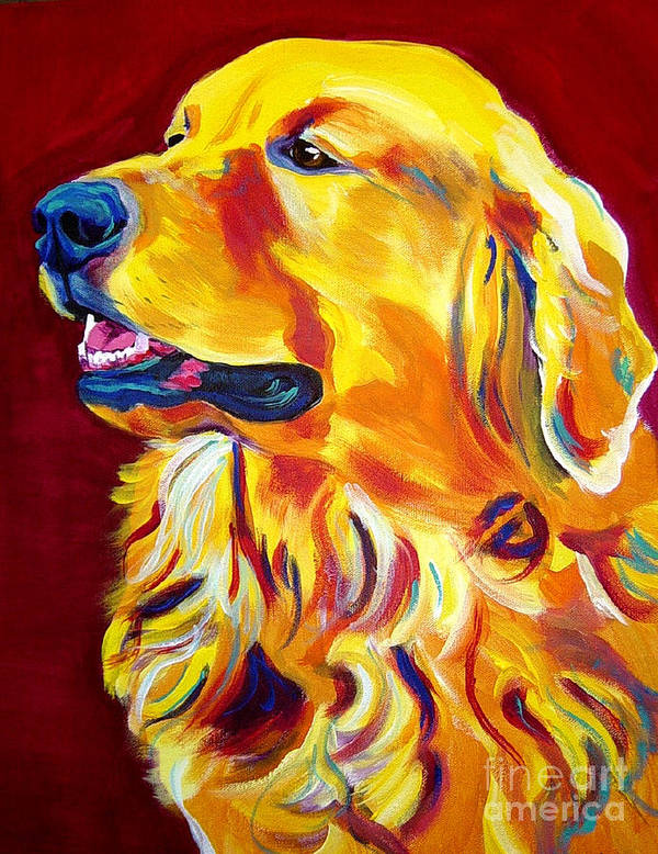 Dog Poster featuring the painting Golden - Scout by Alicia VanNoy Call