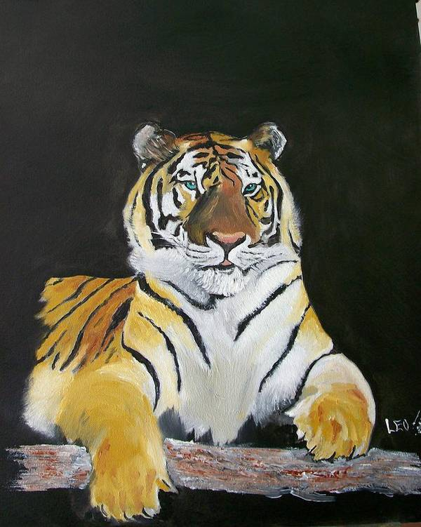 Tiger Poster featuring the painting Golden Beauty by Leo Gordon