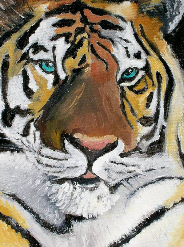 Tiger Poster featuring the painting Golden Boy by Leo Gordon