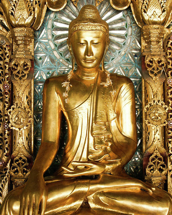 Asia Poster featuring the photograph Golden Buddha by Michele Burgess