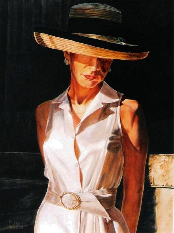 Hat Poster featuring the painting Golden Light by Keith Gantos