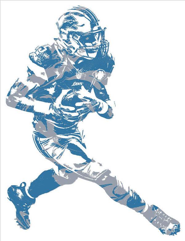 e4613149 Golden Tate Detroit Lions Pixel Art 2 Poster