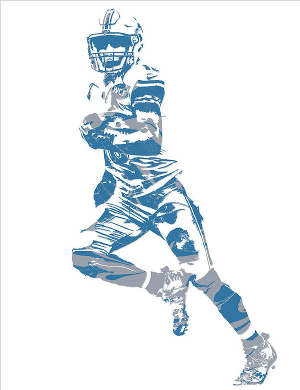 455b9efd Golden Tate Detroit Lions Pixel Art 3 Poster