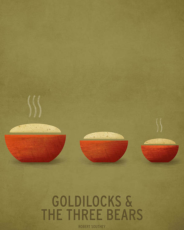 Stories Digital Art Poster featuring the digital art Goldilocks And The Three Bears by Christian Jackson