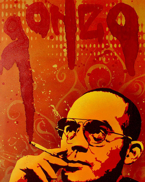 Gonzo Poster featuring the painting Gonzo - Hunter S. Thompson by Tai Taeoalii