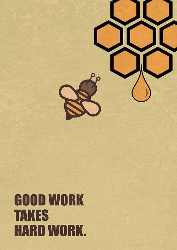 Good Work Quotes Good Work Takes Hard Work Corporate Start up Quotes Poster Poster  Good Work Quotes