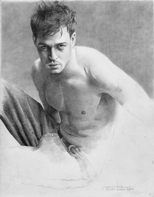 Vanderpool Poster featuring the drawing Gordon Hysen by David Vanderpool