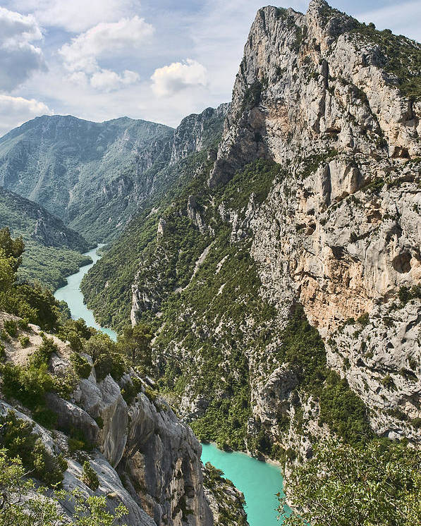 Verdon Poster featuring the photograph Gorge Du Verdon by Gareth Davies